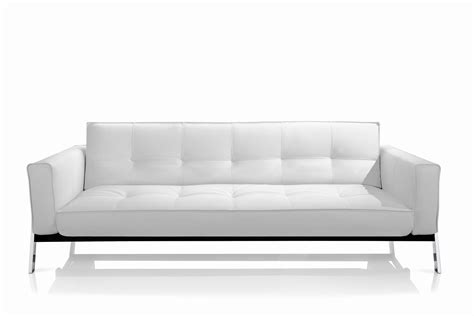 White Sofa Sleeper by Modern White Leather Sleeper Sofa Small Modern White