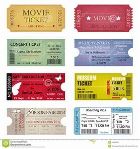 Blank Movie Ticket Template Ticket Template Designs Stock Vector Image 46086041