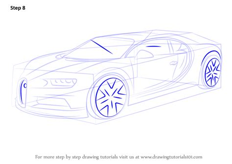 This is the bugatti chiron coloring page for kids and adults. Learn How to Draw Bugatti Chiron (Sports Cars) Step by Step : Drawing Tutorials