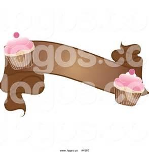 Cupcake Banner Clip Art