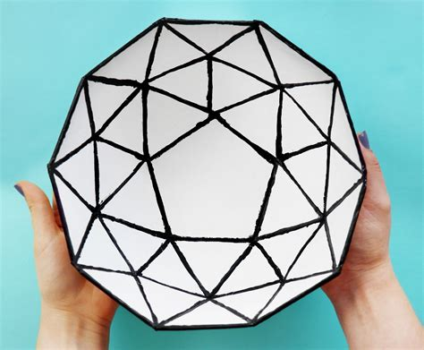 Diy Geodesic Dome Bowl Made Out Of A Cardboard Box