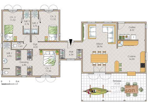 plan maison 6 chambres plain pied plan maison 6 chambres plain pied plans de maisons une