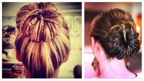 Messy Bun With Braids Updo Hairstyle