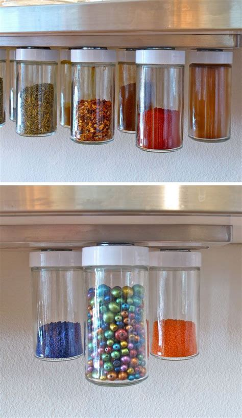 Hanging Spice Racks For Kitchen by Diy Hanging Magnetic Spice Racks Diy Kitchen Storage