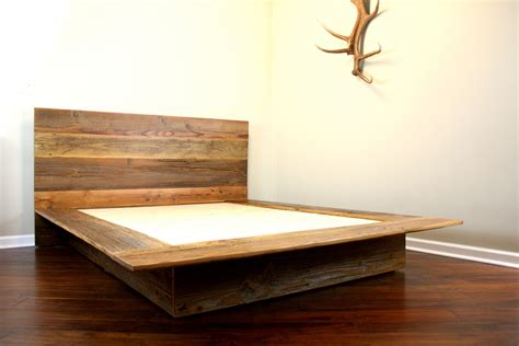 Organic Futon by Reclaimed Wood Platform Bed Barn Wood Bed Frame By Wearemfeo