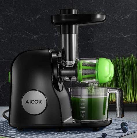 juicer slow masticating aicok juicers wheatgrass machine juicing