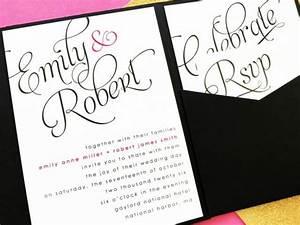 scripted wedding invitation pocket fold wedding With pocket fold enclosure wedding invitations
