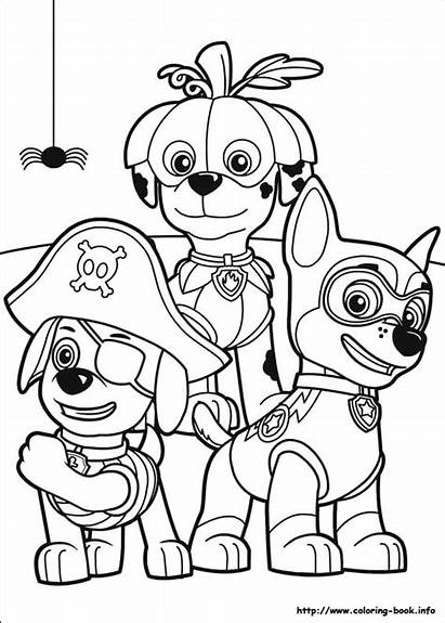 Coloring Halloween Pages Paw Patrol Adults Fun