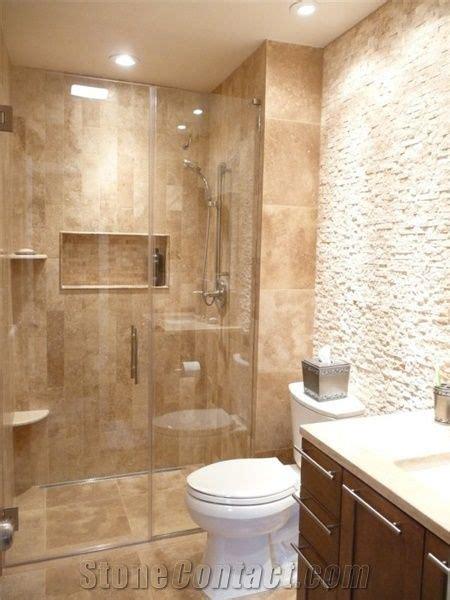 Spa Bathroom Remodel   Classic Travertine Plank Set Linear