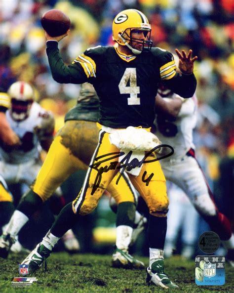 Brett Favre Signed Packers 8x10 Photo Favre Coa