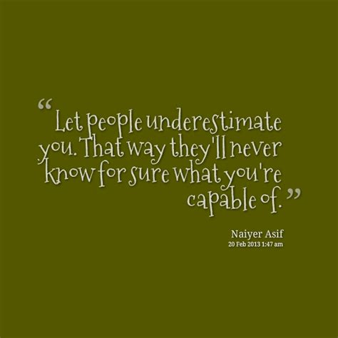 quotes on underestimating a person