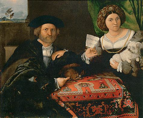Portrait Of A Married Couple Painting By Lorenzo Lotto