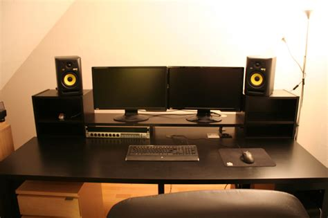 recording studio desk ikea music producer desk i see what you did there
