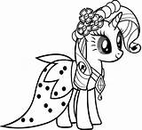 Rarity Friendship Pony Coloring Magic Everyone sketch template