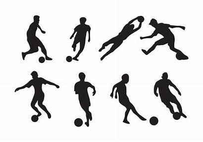 Futsal Vector Clipart Player Soccer Silhouette Icon
