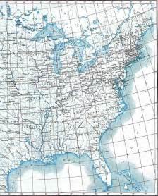 Map of Eastern United States with Latitude Longitude
