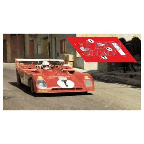 Ferrari 312 pb in memoria di 100km buenos aires 1972. Ferrari 312 PB - Targa Florio 1973 nºT - LEMANSDECALS