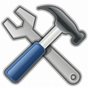 OnlineLabels Clip Art - Tools, Hammer, Spanner