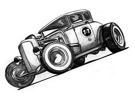 hot rod sketches drawings sketches  ricardo fedrizzi