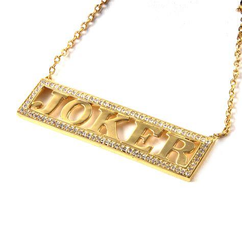 joker kette gold harley quinn joker squad halskette noble kollektion authentisch