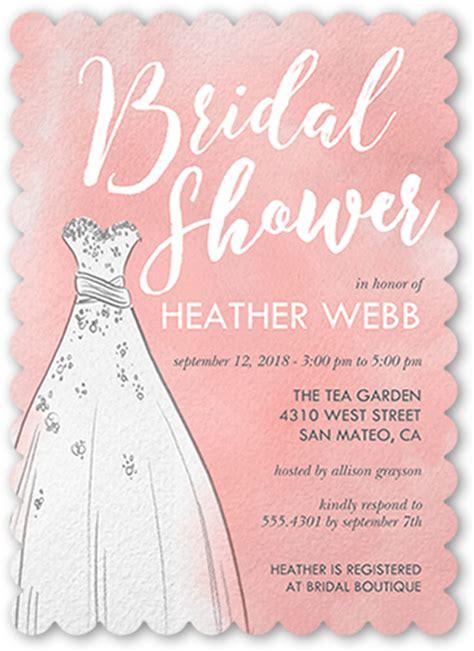 watercolor dress  bridal shower invitations shutterfly