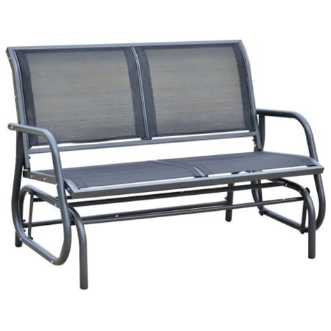 outsunny 48 quot outdoor patio glider bench walmart