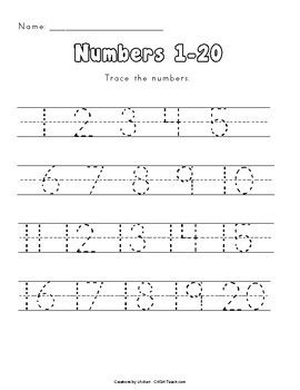 number tracing 1 100 by creations by lackert tpt