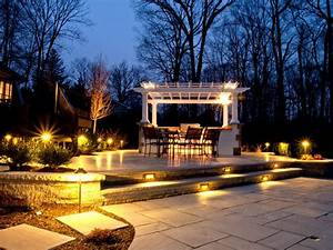 Landscape lighting houston with outdoor tx and night