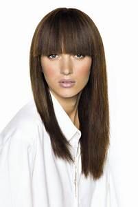 Coupe Cheveux Avec Frange : coupe longue lisse avec frange saint algue marie claire ~ Nature-et-papiers.com Idées de Décoration