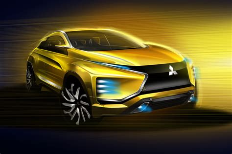 mitsubishi  concept design sketch render car body design