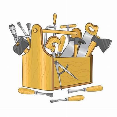 Tools Box Carpentry Tool Hand Vector Toolbox