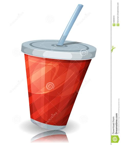 cup cuisine fast food cup of soda with straw stock vector image