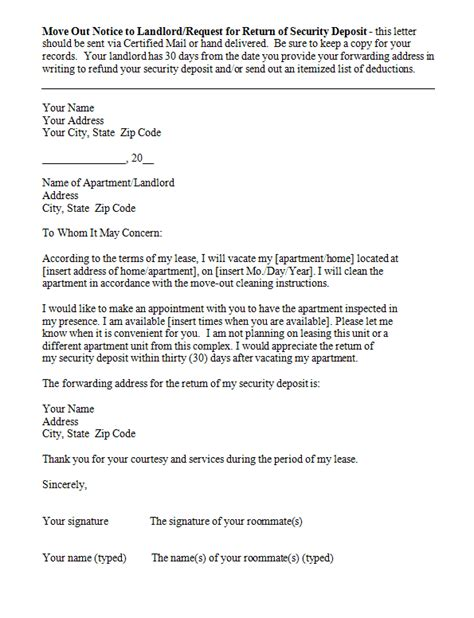 move out letter 45 eviction notice templates lease termination letters