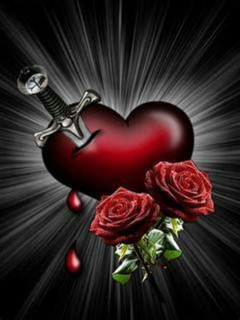 dagger   heart krasivye rozy serdtse oboi rozy