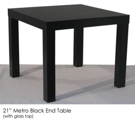 accent tables events inventory metro black end table town country event rentals