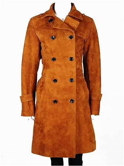 Trench Coat Leather Double Length Mid Coats