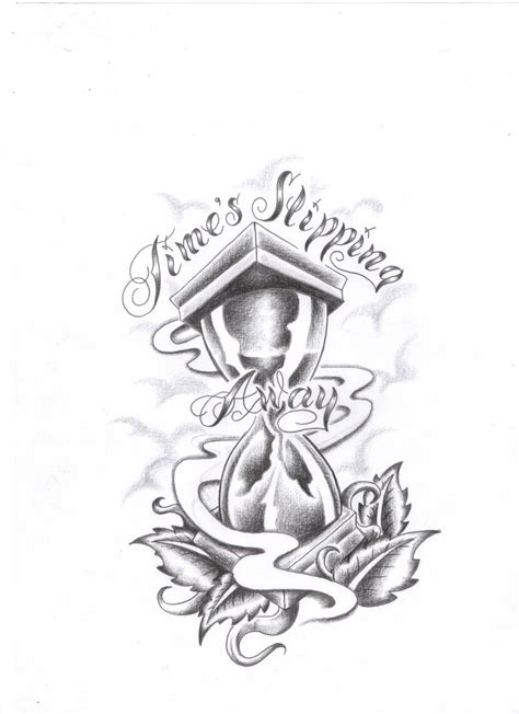hourglass time tattoo designs sketch coloring page