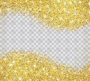 Gold glitter on transparent background Royalty Free Vector ...