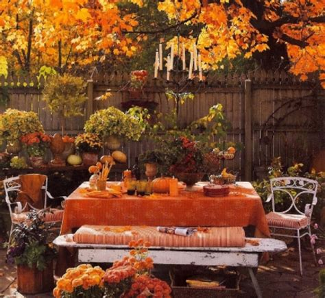 fall garden party  nature background wallpapers