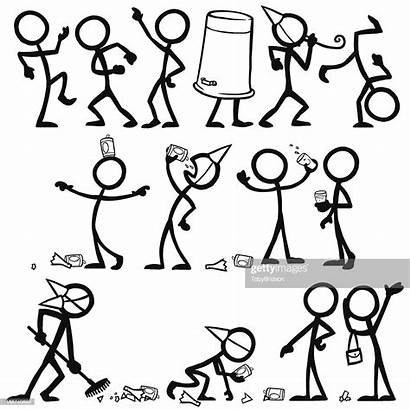 Stick Figure Figures Party Partying Drunk Illustration