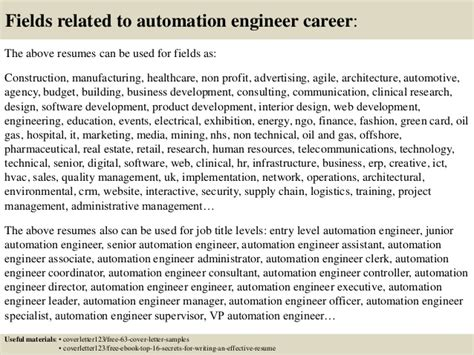 top  automation engineer cover letter samples