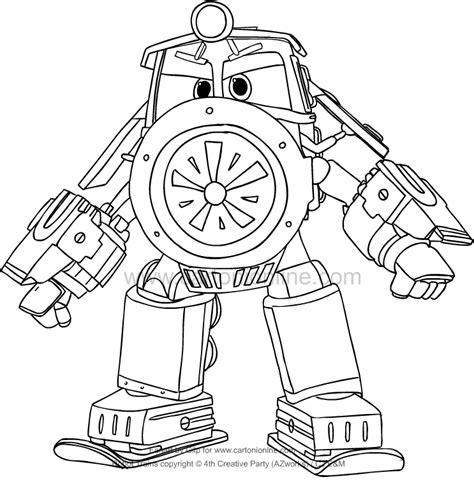 disegni di robot da colorare disegno di victor di robot trains da colorare