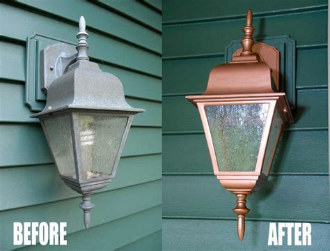 Easy, Thrifty Exterior Light Makeover-living Rich On