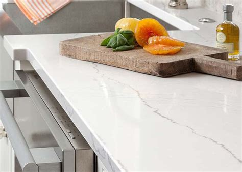 Made Countertops by Glossy Made Quartz Countertops With Beautiful