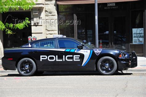Police Car On Main Street