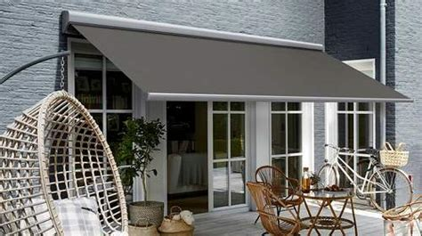 electric motorized retractable awnings canopy  deck patio  commercial