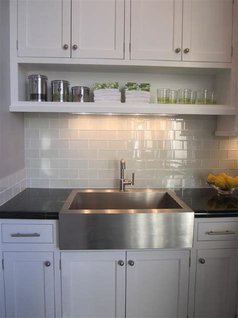 gray kitchen backsplash design decor  pictures