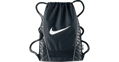 nike brasilia sack in black for lyst