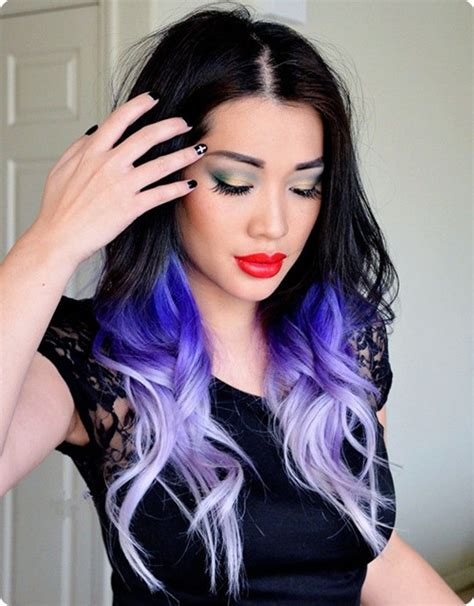 cool brown purple hair tumblr black hair color ideas