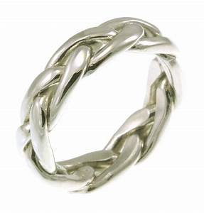 21476we 18k celtic braided wedding band With braided wedding ring